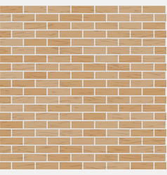 brick wall background classic texture vector image vector image