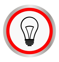 flat design bulb icon vector image vector image