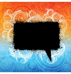 grungy speech bubble vector image vector image