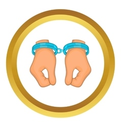 Hands in handcuffs icon vector