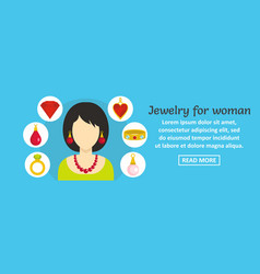 jewelry for woman banner horizontal concept vector image vector image