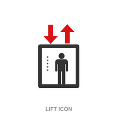 lift icon symbol isolated vector image vector image