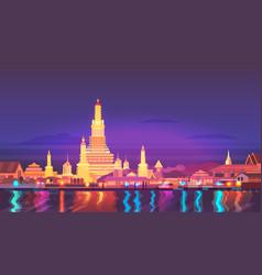 Thailand travel around vector