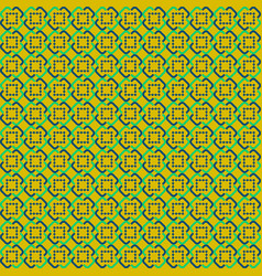 yellow abstract sameless pattern vector image vector image