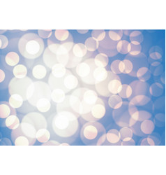 abstract blue soft yellow light bokeh background vector image