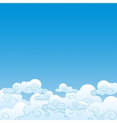 Good weather background Blue sky with clouds vector image