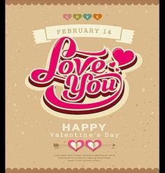 Happy valentine message classic banner vector