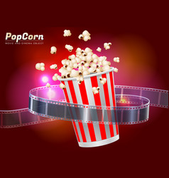 popcorn movie cinema object vector image