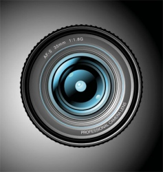 professional lens vector image vector image