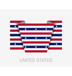Stars and stripes flag flat icon vector