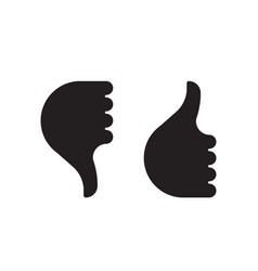 thumb up down hand icon vector image vector image