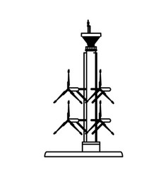 tidal power plant icon image vector image