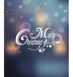 Light Bokeh Christmas Background With Typography vector image