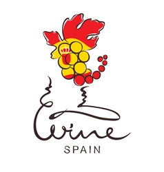 Logotype sign - wine from Spain vector image