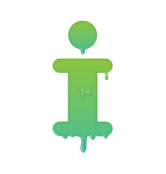 melting info icon support and help desk vector image vector image