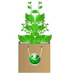 plants in bag vector image