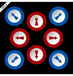 red and blue arrows - eight directions vector image vector image