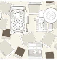 vintage seamless pattern with camera vector image vector image