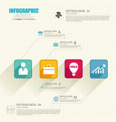 abstract business infographic concept vector image