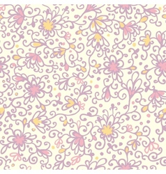 abstract floral texture seamless pattern vector image