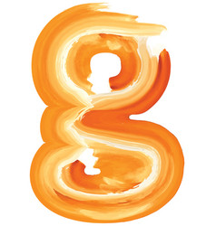 Abstract oil paint letter g vector