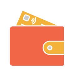 Account balance glyph color icon vector