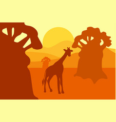 african safari park landscape vector image