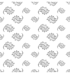 Baroque damask seamless pattern vector image