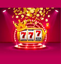 big win slots 777 banner casino vector image