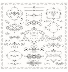 Black Hand Drawn Decorative Doodle Design Elements vector