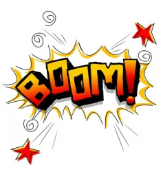 boom with stars vector image