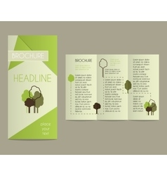 Brochure and flyer design template in polygonal vector image