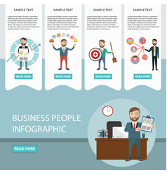 Business process infographics brainstorm big vector