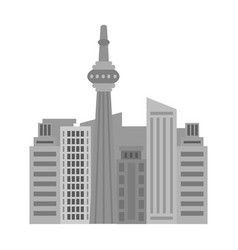 Canadian skyscraper canada single icon in vector