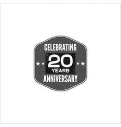 celebrating 20 years anniversary badge sign vector image