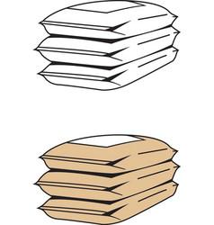 Cement sacks vector