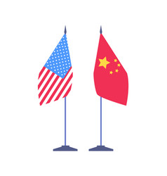 china usa international country flags signs vector image