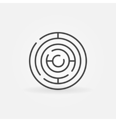 Circle maze linear icon vector