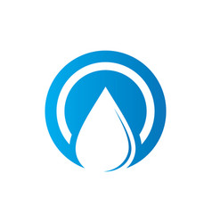 circle waterdrop nature logo vector image