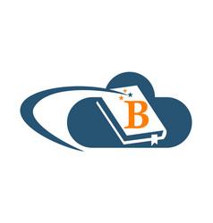 Cloud ebook solutions initial b vector