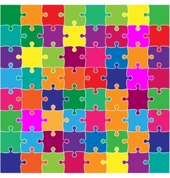 Color Puzzles Pieces Square JigSaw - 64 vector