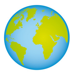colorful earth world map with continents in 3d vector image