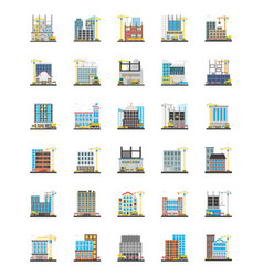 Commercial scaffolding orthogonal icons vector