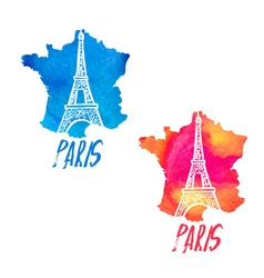 concept logo with eiffel tower vector image