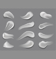 cream smears white cosmetic lotion isolated drops vector image