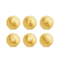 Currency coins vector image