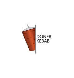 Doner kebab logo design template vector