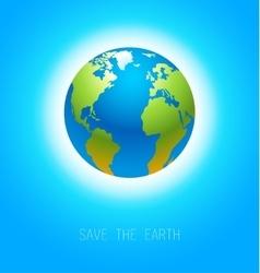 Earth on blue vector
