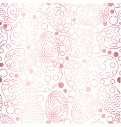 easter eggs decorative pattern on white background vector image