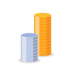 financial element bank coins money vector image